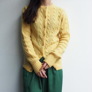 shetland new wool yellow knit