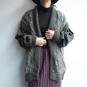 Knit ×布帛  Blouson