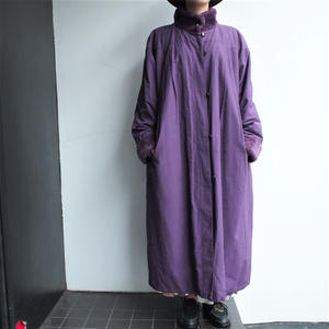 Made in Finland Purple stand collar coat