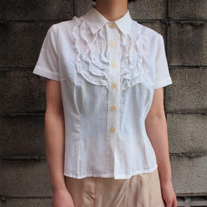 Frill collar  white blouse