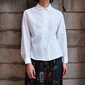 1950's Cut work cotton blouse