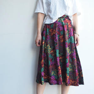 Mide in USA flower print skirt