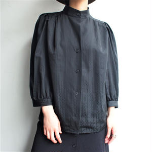 Made in West Germany Black stand collar blouse