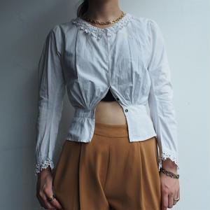French vintage White Blouse