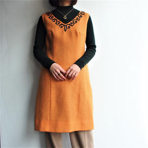 1970's Wool no sleeve dress