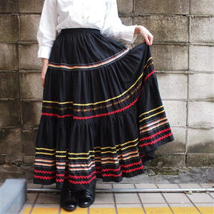 Europe Black  long skirt