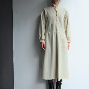 Dolman sleeve stand collar dress