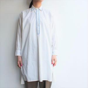 1940's France cotton long shirt
