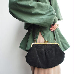 shoulder velour coin bag