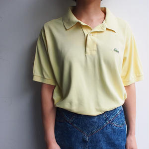Made in France LACOSTE Polo Shirt  pale yellow
