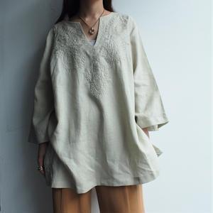 Irish Linen embroidery blouse