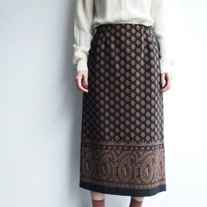 Black paisley skirt
