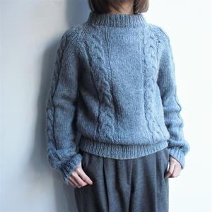 Blue gray wool knit