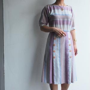 Border dolman sleeve dress