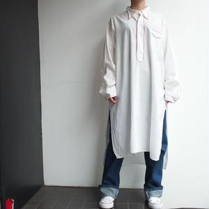〜 1920's  France white long shirt