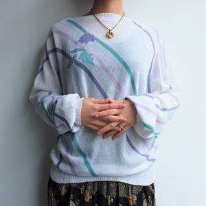 Summer knit dolman sleeve