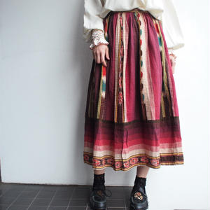 Old Indian cotton skirt