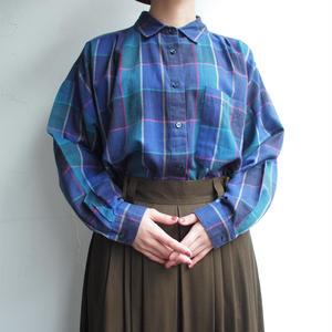 Blue plaid blouse