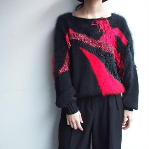 Red & Black 異素材Knit