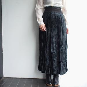1970's satin pleats skirt