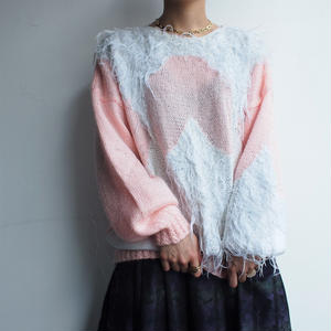 PINK shaggy  knit