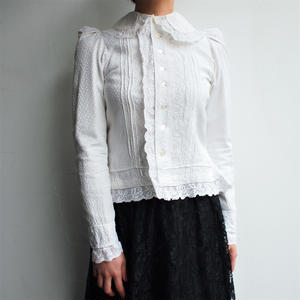 1940's~ White antique blouse