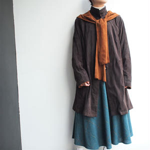 Lamb leather stand collar coat (food取外し)
