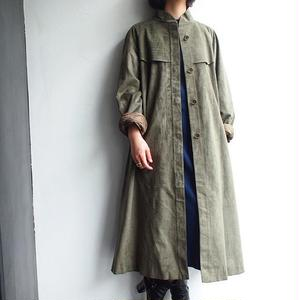 Made in Italy fake suede stand collar coat