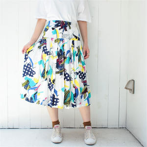 Europe white long skirt