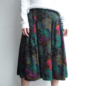 Velours flower skirt