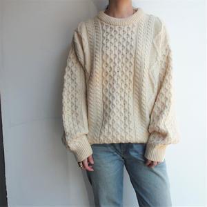 Made in Ireland fisherman low gauge knit
