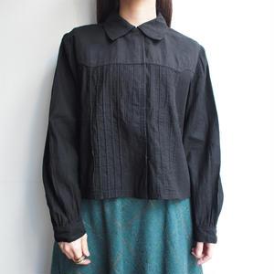 1920's Black cotton blouse