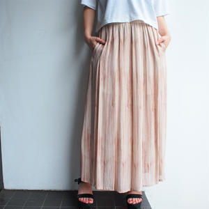 light pink stripe skirt