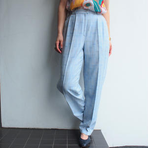 Made in Germany light blue Plaid pants