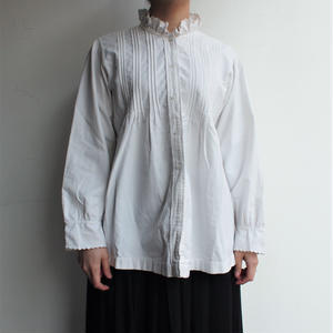 Early 1900's frill stand collar antique blouse