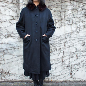 1950's -1960's Mink fur collar wool coat