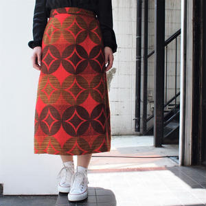 Dot ×rhombus  long skirt