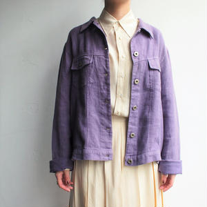 Linen light purple blouson