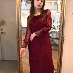 Bordeaux  velour dress
