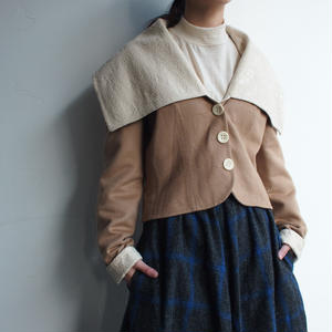 【Chistain Dior】2way Camel Coat Made  in France