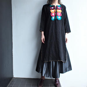 Jacquard material Embroidery  dress