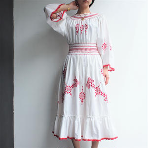 Europe Embroidery one-piece