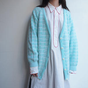 Made in Belgium Light blue knit cardigan