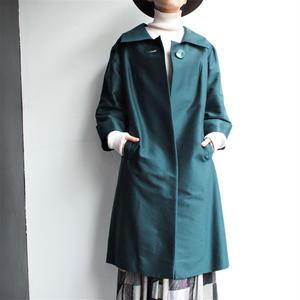 Green square collar coat