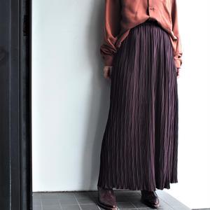 Brown bordeaux pleats skirt