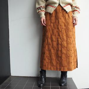 fake suede skirt