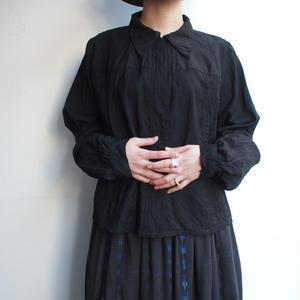 1900's  Black cotton antique blouse