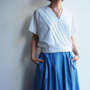 Made in U.K. French sleeve pleats blouse