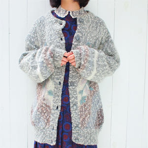 Nep knit flower  Embroidery  cardigan