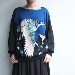 Blue bird knit